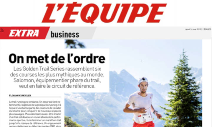 A full page spread in L'EQUIPE